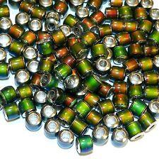 MCXX131L Color Changing Thermo Sensitive Sparkle Mood Beads 6mm Barrel 100/pkg