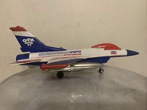 "LIBERTY CLASSICS DIE-CAST PEPSI F16 FIGHTING FALCON BOMBER JET PLANE BANK 12"""