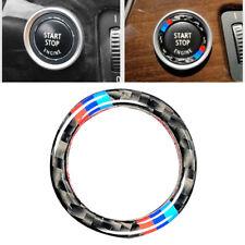 Carbon Fiber Ring M Stripe Trim For BMW E90 E92 Engine Switch Start Stop Button