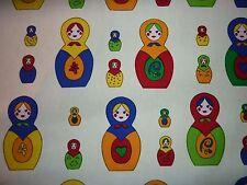 CLEARANCE FQ matriochka russian nesting dolls tissu Kitsch filles