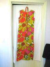 "Carol and Mary Honolulu bright flowers shift maxi dress, 34"" chest, c. 1960s, Po"