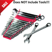 Wrench Organizer Sockets Tray Tool Box Storage Sorter Rack 16 Wrenches Holder
