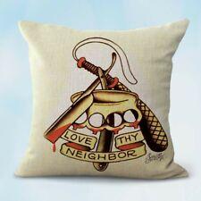 Us Seller- Sailor Jerry love my neighbor cushion decorative pillow covers