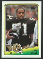 1988 TOPPS #65 SAM MILLS New Orleans Saints ROOKIE CARD - 03