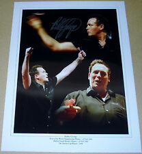 BOBBY GEORGE DARTS PERSONALLY SIGNED AUTOGRAPH 16X12 PHOTO