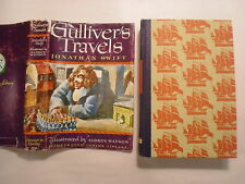 Gulliver's Travels, Jonathan Swift, Illustrated Junior Library, DJ, 1971