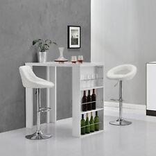 [en.casa]® Bar Counter Breakfast Bistro Table White
