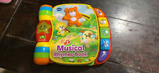 VTech Musical Rhymes Book, Red with New Batteries
