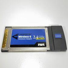 Linksys WPC54G Wireless-G 2.4GHz 802.11g  PCMCIA Notebook Adapter Card