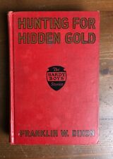 Vintage Hardy Boys HUNTING FOR HIDDEN GOLD Franklin W. Dixon Red Early 3rd Print