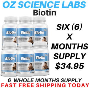 Biotin 360 Capsules 10,000mcg - Maximum Strength - Hair Skin Nails QTY DISC BUY