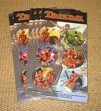 POGS/Tazos   *NEW* 1995 Vintage TARZAN Edgar Rice Burroughs x6 Pack