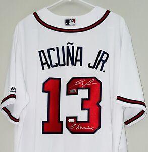 Ronald Acuna Jr. Signed Atlanta Braves Majestic Autographed MLB Jersey JSA USASM