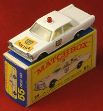 MATCHBOX LESNEY 55 / 59 Police Car Red Roof Light w/ Box Circa 1966 ��