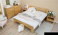 Schlafzimmer Möbel Set Bett Massivholz Nachttische 2x Betten Echtes Holz 3tlg.
