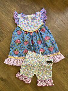 Matilda Jane Brillant Daydream Fantasy tunic & Beautie Shorties size 6 set