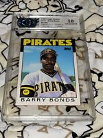 Barry Bonds Rookie RC 1986 Topps Traded #11T Graded CSA Graded Gem MT 10