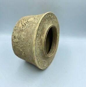 Old Ancient Antique Bronze Age Harappan Indus Valley Civilization Terracotta Pot