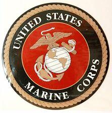 "LARGE 5"" USA MARINE CORPS METAL BOX BUMPER CAR FRIDGE REMOVABLE STICKER MAGNET"