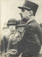 Général Charles de Gaulle France Photo Argentique Silver Print Vintage N2