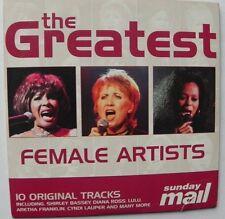 THE GREATEST FEMALE ARTISTS CD LULU DIANA ROSS SUZANNE VEGA CYNDI LAUPER