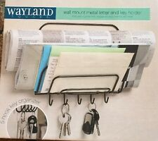 NEW Wayland Square Black Metal Wall Mount Metal Letter & Key Holder BEST OFFER