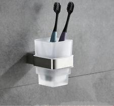 SUS 304 Toothbrush Single Cup Tumbler Holder Bathroom Accessories Shelf Square