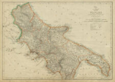 KINGDOM OF NAPLES/TWO SICILIES North. Southern Italy. DOWER. Dispatch 1862 map