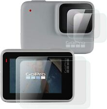 For GoPro Hero 7 (Silver/White) Lens + Lcd Screen Glass Screen Protector
