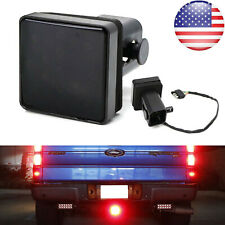 "Smoked Lens 15 LED Brake Light Trailer Hitch Cover Fit Towing & Hauling 2"" Size"