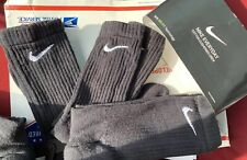 Nike Tech Dri-Fit Cotton Crew Socks Large - Black New 3 Pack