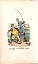 """ 4 SUPERB COMIC FISHING PRINTS  "" ROBERT SEYMOUR. 1846."