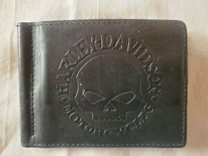 Harley Davidson Skull Wallet bi-fold with Money Clip