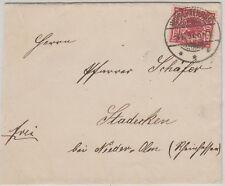 RUPPERTENROD Mücke Hessen 1897 LUXUS-Stempel auf Brief nach Stadecken (20392)