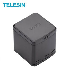 100% TELESIN 3-Way Battery Charger For Gopro7/6/5 With Fast Charging USB-C Cable