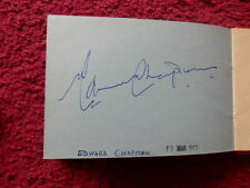 MR.GRIMSDALE ACTOR EDWARD CHAPMAN AUTOGRAPH 1972