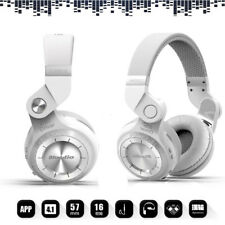 Bluedio T2 Bluetooth 4.1 Headsets Wireless Stereo Headphones Mic White for MAC