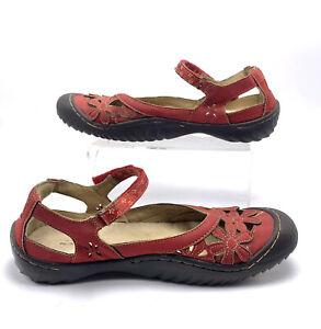 JBU Jambu Wildflower Mary Jane Flats Shoes Women's Red Vegan US 10 M