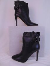 NIB JIMMY CHOO MAJOR 100 BLACK LEATHER BUCKLE ANKLE BOOTS PUMPS 42 12 ITALY