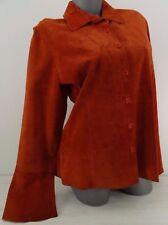 Vintage Suede Jacket Blazer Orange Margaret Godfrey Womens size 14