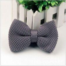 Nœud papillon gris en polyester pour homme