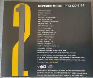 Depeche Mode. 18 Track Sampler. Promo Compilation 1-2. PRO-CD-5192.