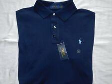 Polo Ralph Lauren Polo Shirt Classic Cotton Mesh Big & Tall Pony Logo $98 Navy