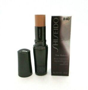 Shiseido The Makeup Stick Foundation Spf 20 ~ B40 Natural Fair Beige ~ BNIB