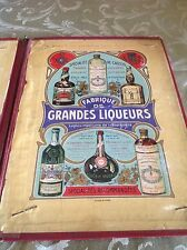 Antique Railroad Chemin de fer advertisement liquor menu 1900's