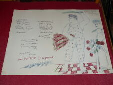 [COLLECTION J. LE BOURHIS DANSE BALLET]  LITHOGRAPHIE ORIGINALE SIGNEE FASSIANOS