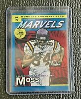 🔥 RANDY MOSS 2020 PANINI DONRUSS MARVELS CASE HIT! SSP🔥VIKINGS HALL OF FAMER🔥