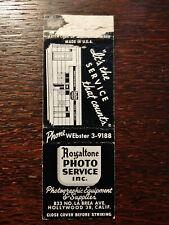 Vintage Matchcover: Royaltone Photo Service & Equipment, Hollywood, CA  28