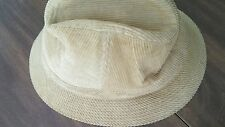 Vintage Mens BUCKET HAT Courderoy YOUNG AN  YA Tan Brown Large Fedora