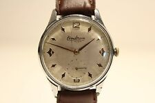 """VINTAGE RARE CLASSIC 36mm SUB SECOND MEN'S SWISS WATCH""""OMIKRON"""" 21 J./NICE DIAL"""